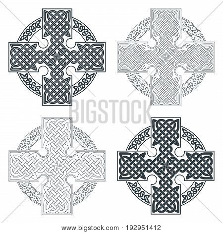 Vector celtic cross. Ethnic ornament Geometric design T-shirt print Vector illustration