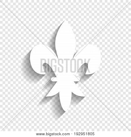 Elements for design. Vector. White icon with soft shadow on transparent background.