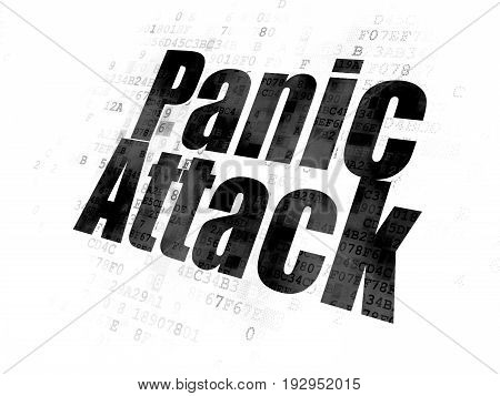 Health concept: Pixelated black text Panic Attack on Digital background
