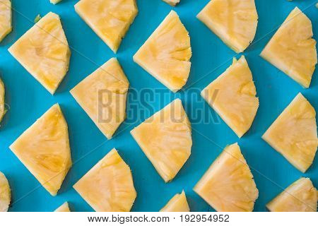 Close up slice pineapple background texture pattern