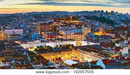 Lisbon City Center Overview, Portugal