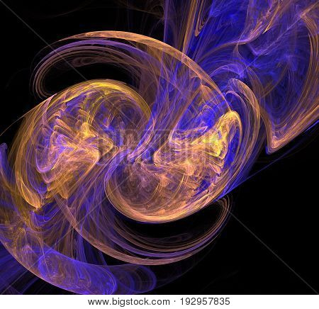 Spiral And Spin In Unison In This Fractal Abstract.