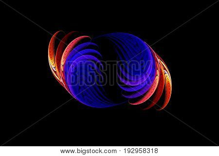 Computer generated fractal of double spiral. spiral and spin in unison in this fractal abstract.Abstract fractal element in rotational motion for your design