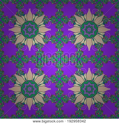 Seamless pattern with abstract ornament. Seamless pattern with Mandalas. Vector ornaments background.