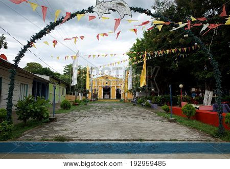 A Church In The Town Of Moyogalpa In Ometepe Island In Nicaragua