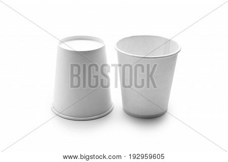 White Paper Cup isolated on white background
