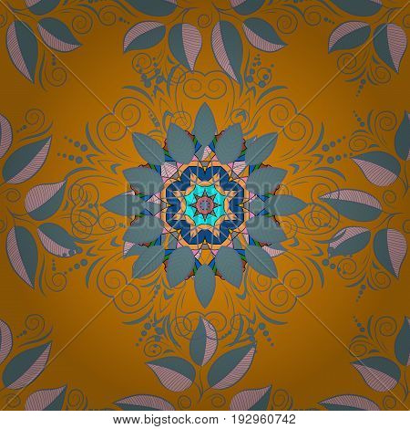 Flower on. Mandala logo. Business identity concept for bio eco company yoga or spa salon. Vector gradient premium logotype.