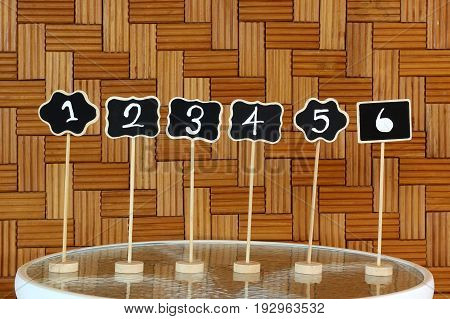 Restaurant Table Number Sign
