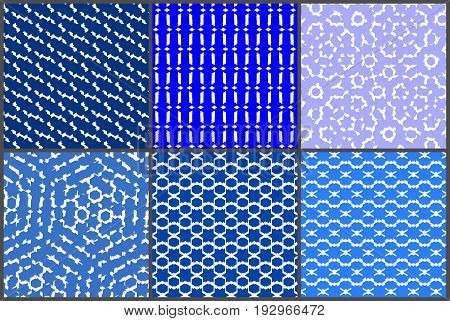 random six endless blue pattern geometrical, vector