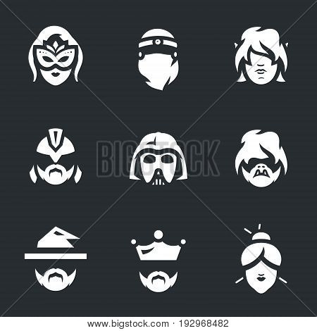 Sorceress, princess, elf, gladiator, alien, swine, magician, king, geisha.