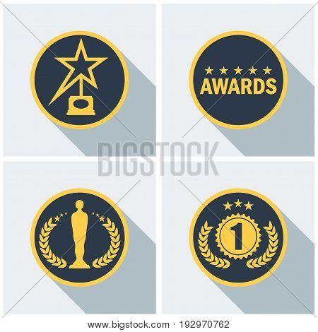 Cinema Award Icons Set