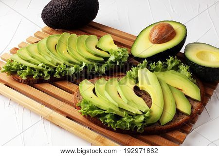 Sandwich With Avocado - Healthy Breakfast Concept