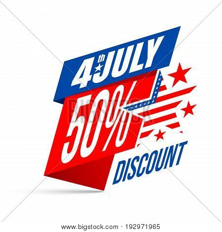Independence Day 4 Th July Sale And Discount.banner For Usa Independence Day 4 Th July