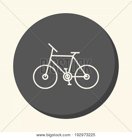 Two wheeled bicycle vector round icon with the illusion of volume simple color change