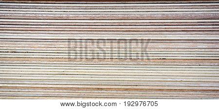 Sheets of stacked plywood texture wooden background