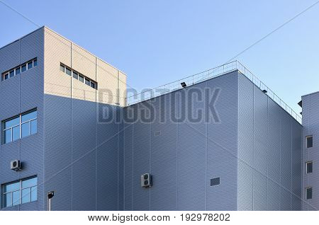 Siding On Industrial High-rise Building
