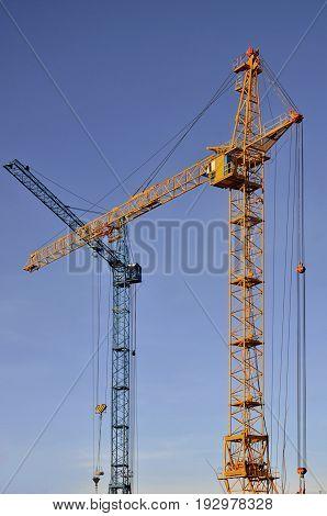 Tower Crane Against A Blue Sky