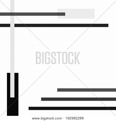 Conceptual geometric vector background with gray strips