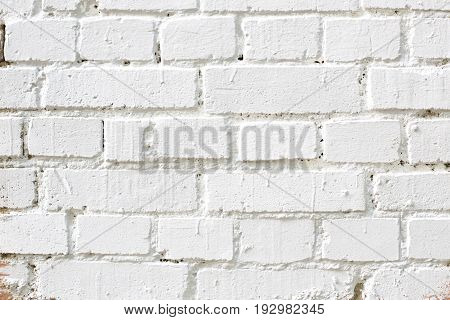 Old white brick wall texture.  White brick wall texture background. Abstract texture for designers. Background of brick wall texture. Old vintage brick wall. Grunge background.