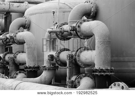 Water distribution systems are quiet in industrial factories in Thailand.