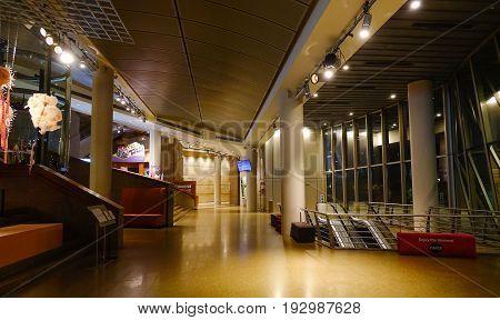 Underground Subway Station In Singapore