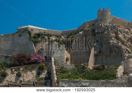 The Badiali castle of San Nicola Island