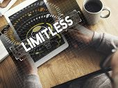 Dare to dream limitless motivation inspire to success graphic poster