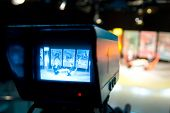 Video camera viewfinder - recording in TV studio - Talking To The Camera poster