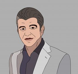 June, 2017: Entrepreneur Tavis Kalanick vector portrait. Founder of Uber.