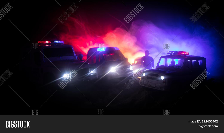 Police Cars Night  Image & Photo (Free Trial) | Bigstock