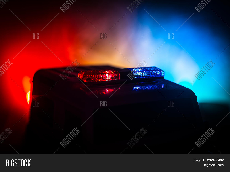 Police Cars Night Image Photo Free Trial Bigstock