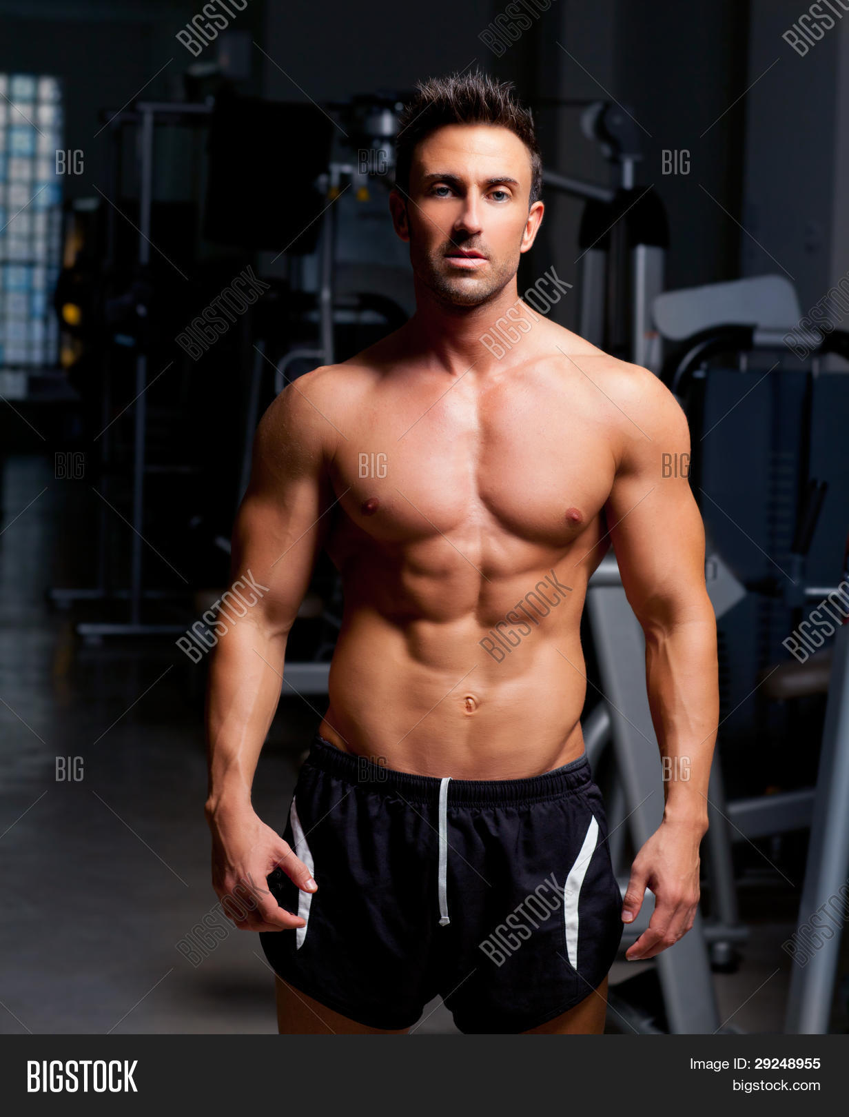 Fitness Shaped Muscle Image & Photo (Free Trial) | Bigstock