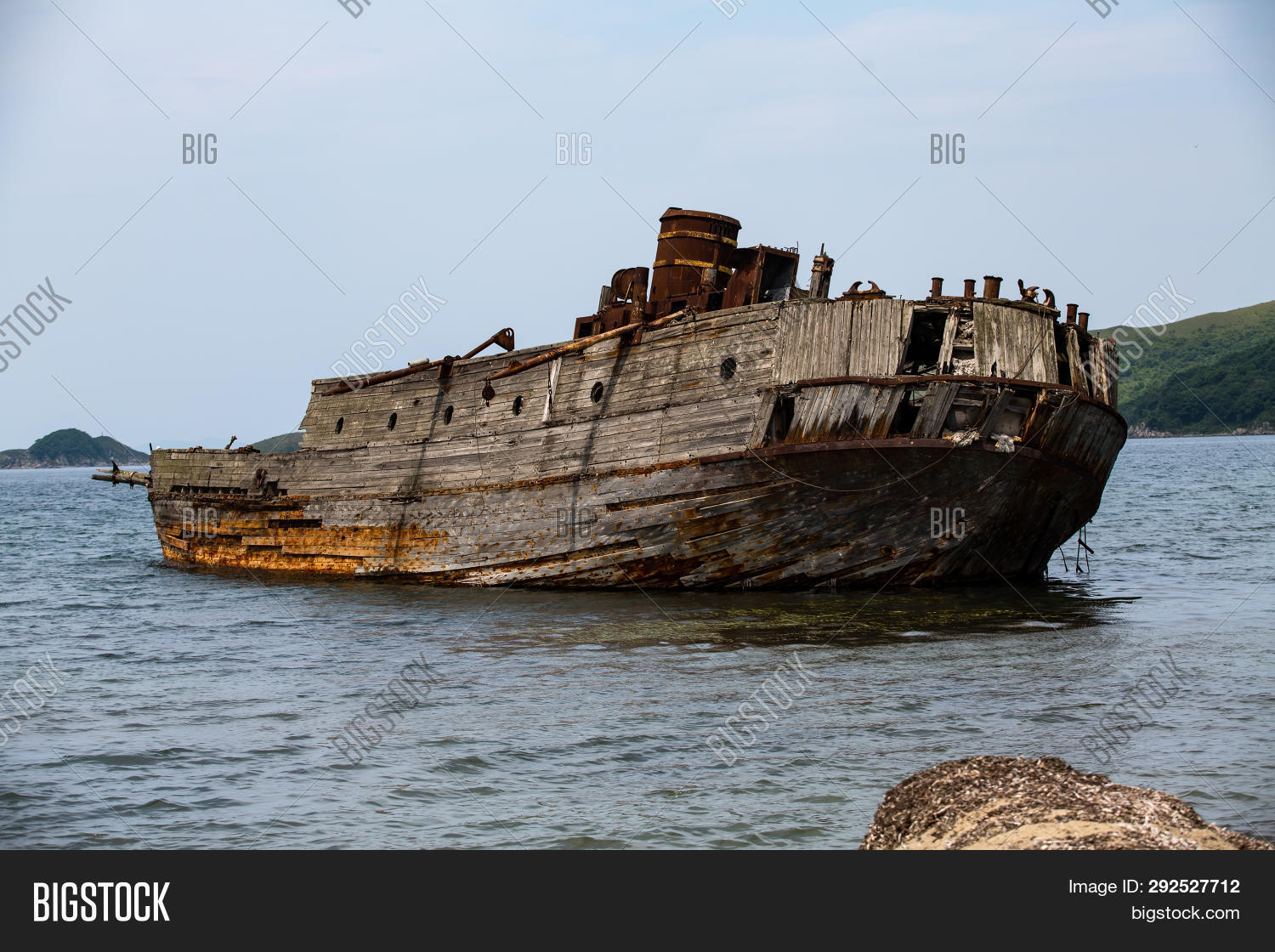 Remains Sunken Ship Image & Photo (Free Trial) | Bigstock