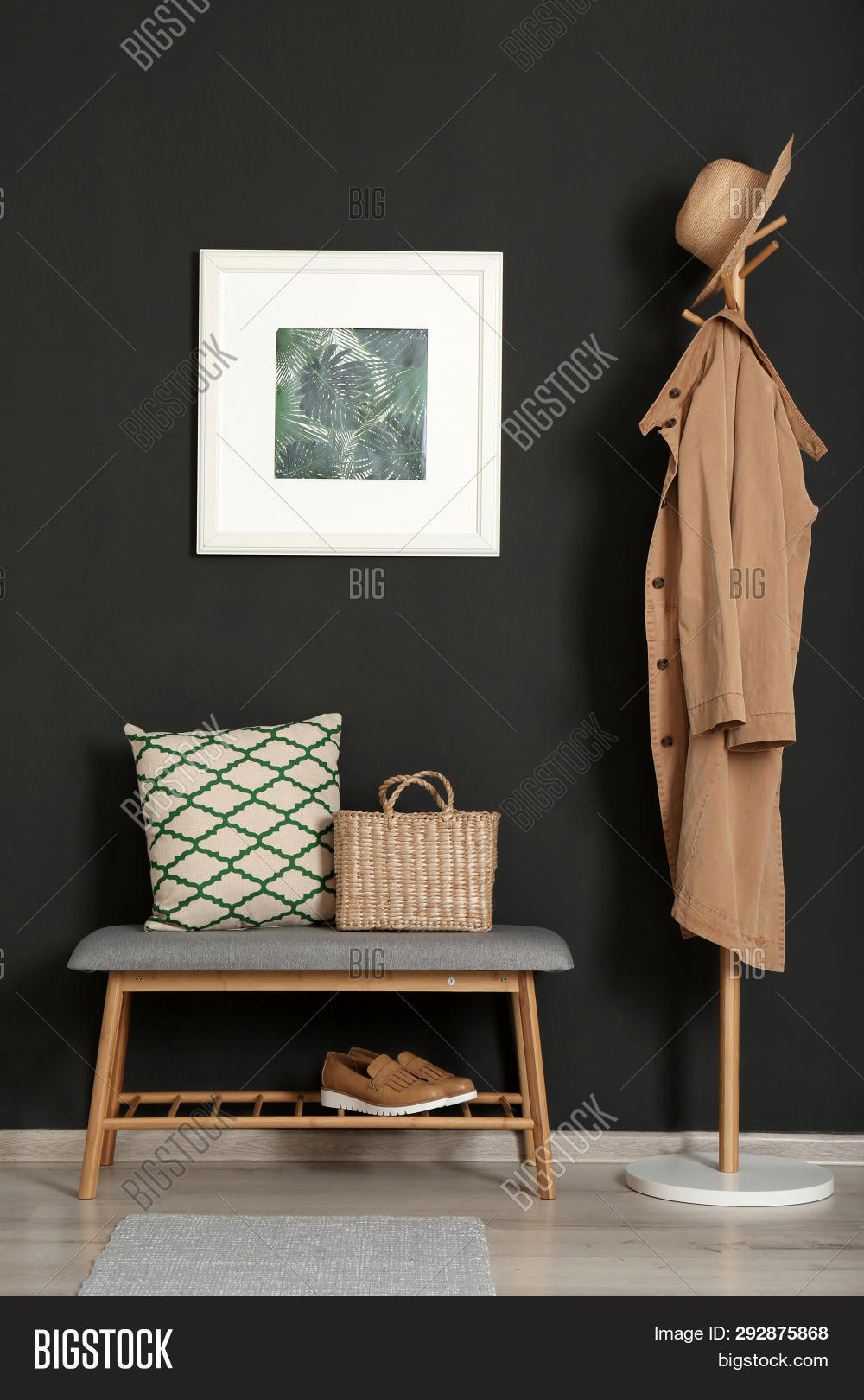 Outstanding Bench Pillow Bag Black Image Photo Free Trial Bigstock Caraccident5 Cool Chair Designs And Ideas Caraccident5Info