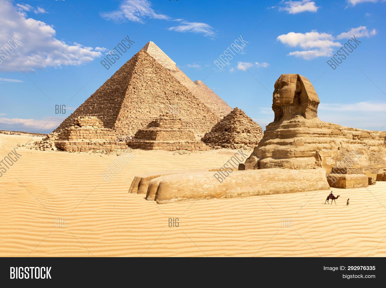 Pyramids Giza Sphinx, Image & Photo (Free Trial)   Bigstock