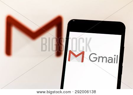 March 27, 2019, Brazil. Gmail Logo On Your Mobile Device. Gmail Is A Free Webmail Service Created By