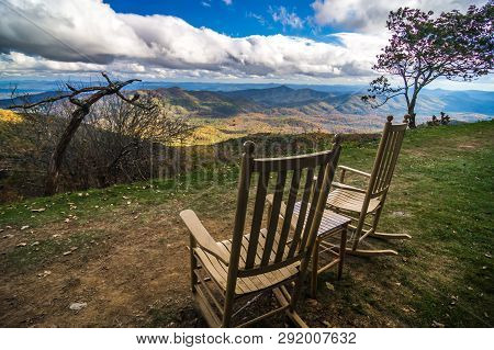 Mountain Views At Sunset From Lawn Chair