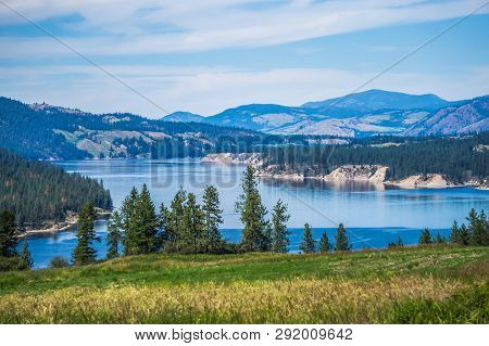 Columbia River Scenes On A Beautiful Sunny Day