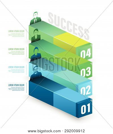 Box To Success Number Options With Icons. Vector Illustration And Can Use For Business Concept, Repo