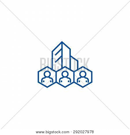 Corporate Policies, Business System Line Icon Concept. Corporate Policies, Business System Flat  Vec