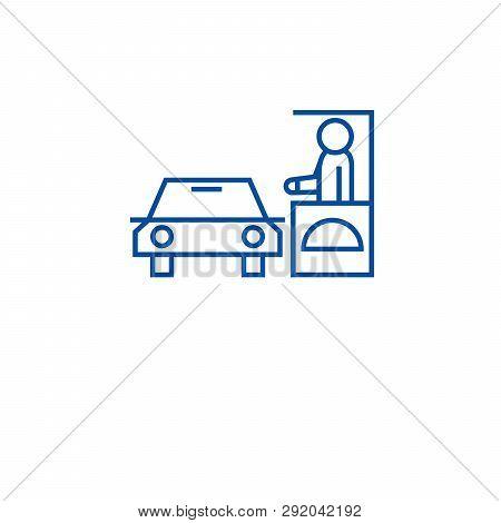 Drive Thru Restaurant Line Icon Concept. Drive Thru Restaurant Flat  Vector Symbol, Sign, Outline Il