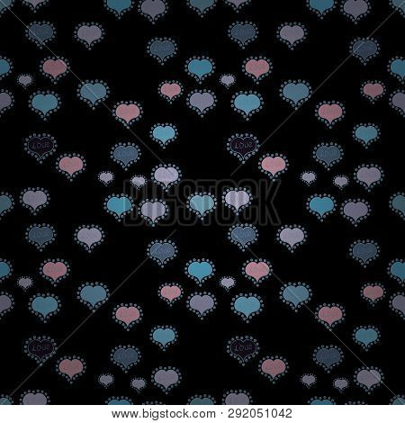 Valentines Day. Seamless Pattern With Ethnic Hearts, In Retro 80s Style For Fabric Print, Paper Prin