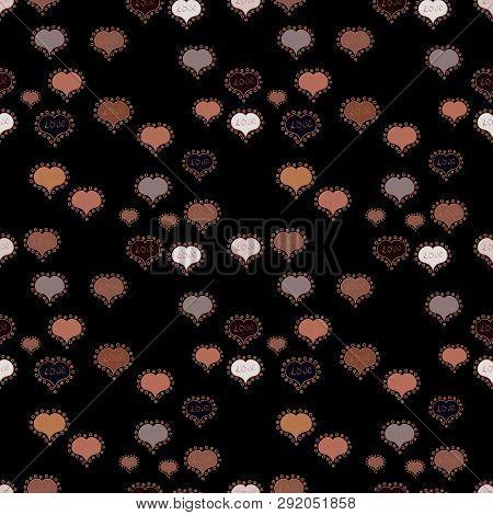 Vector Illustration. Sketch Designed Loves Heart. Couple Romantic Love Heart. Graphic Hearts Love On