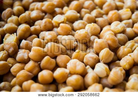 Close Up Of Cheakpea Beans Awaited In Water