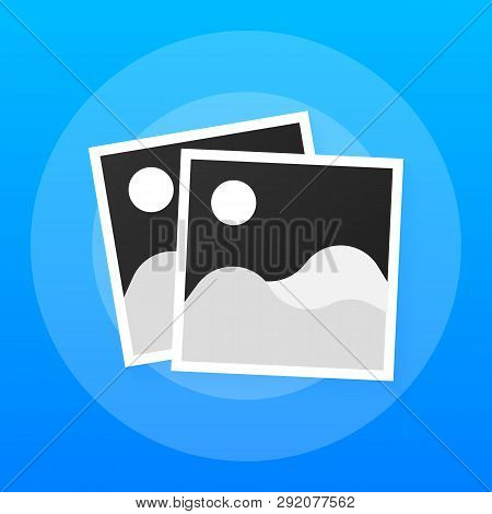 Photo Icons, Photo Frames, Retro Photos Flat Icon, Vintage Blank Photo Frames. Vector Stock Illustra