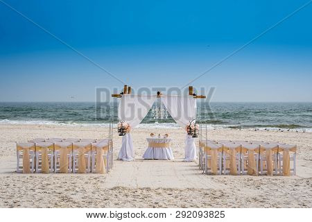 A Simple Beach Wedding Arch In Gulf Shores, Alabama
