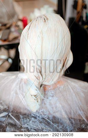 He Process Of Hair Coloring,hair Coloring,hair Colouring In Process,woman Gets New Hair Colour,hair