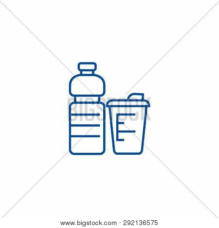 Sport Food, Fitness Food Line Icon Concept. Sport Food, Fitness Food Flat  Vector Symbol, Sign, Outl