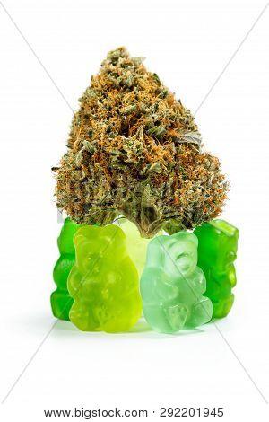 Marijuana Edibles Over White