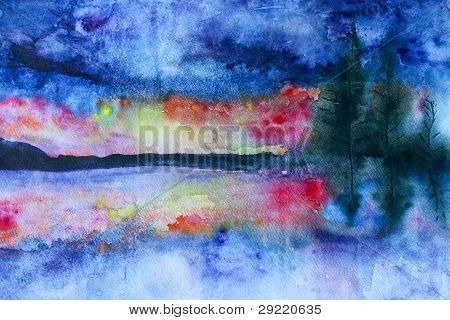 Waterccolor Landscape